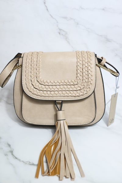 Looking Forward Tassel Braided Faux Leather Messenger Bag in Multiple Colors
