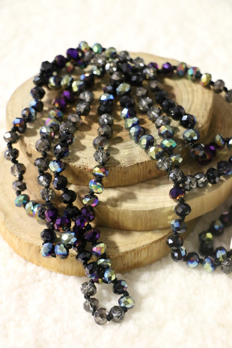 Black Beauty Point Of Perfection Beaded Necklace