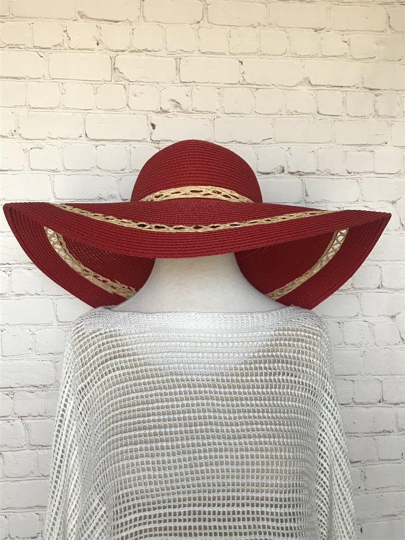 Wish You Knew Straw Hat with Braided Straw Accent and Bow in Multiple Colors