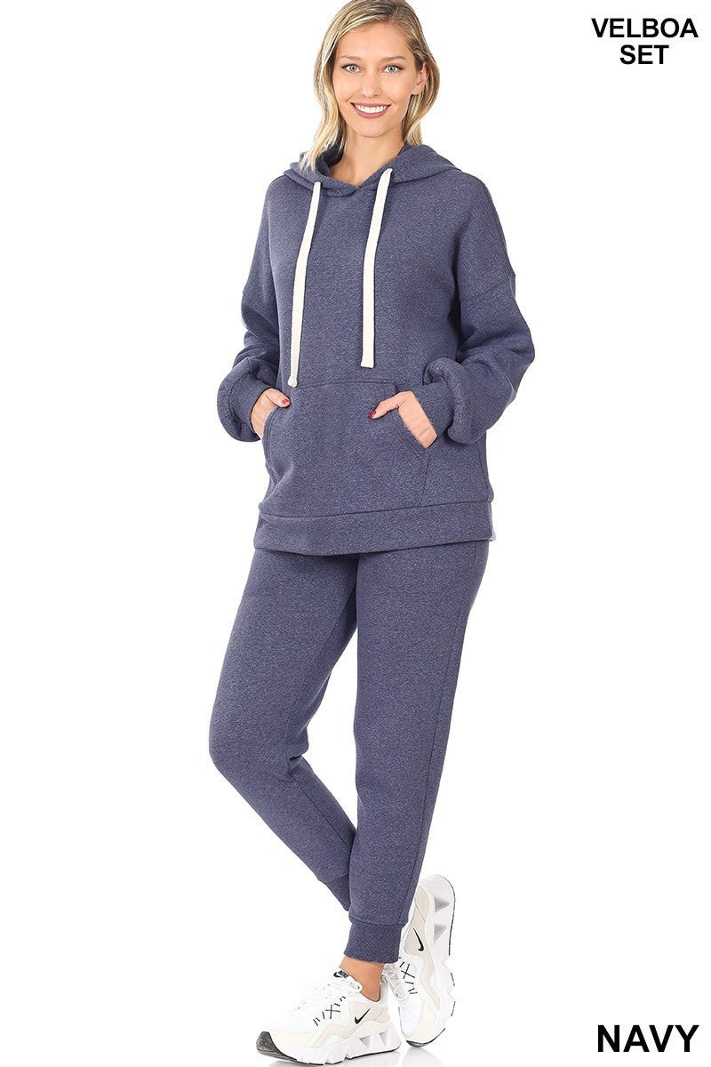 Never Alone Hoodie & Jogger Pants Set in Navy - Sizes 4-12