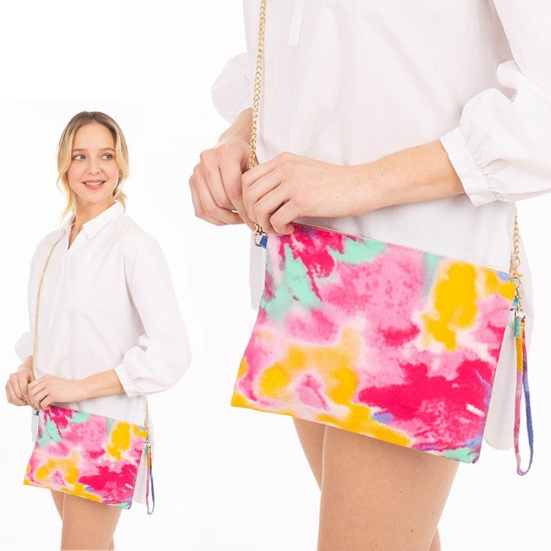 Bright Days Ahead Tie Dye Crossbody Bag with Wristlet
