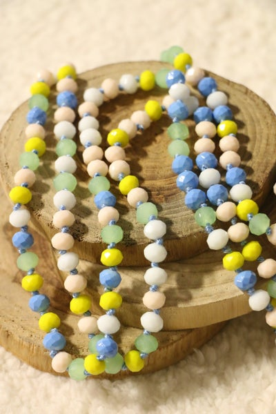 Blueberry Lemon Point Of Perfection Beaded Necklace