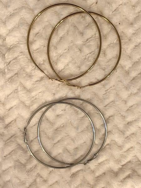 Everyday Fun Large Metal Hoop Earring In Multiple Colors