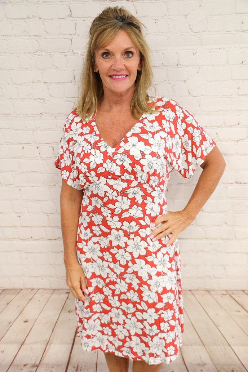 Surrounded by Beauty Floral Dress in Multiple Colors - Sizes 4-20