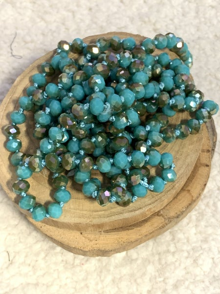 Peacock Point Of Perfection Beaded Necklace