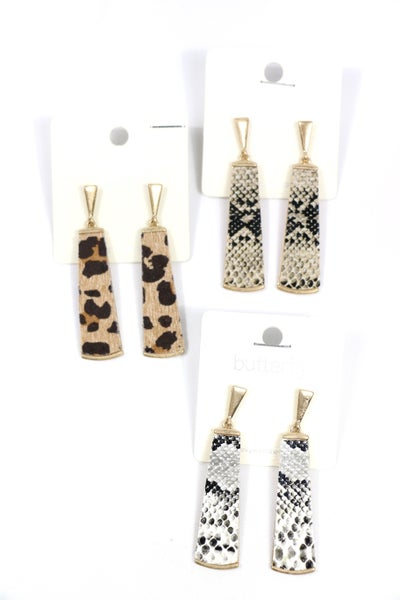 Good For You Paddle Shape Drop Earrings In Multiple Prints