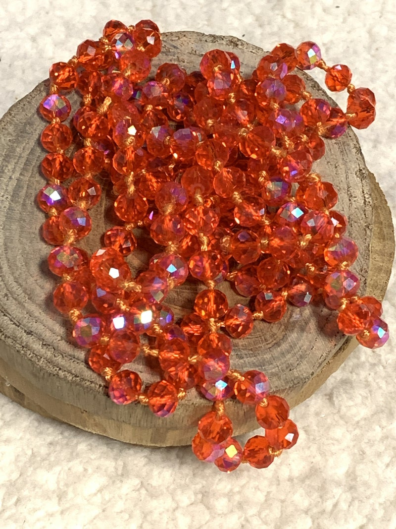 Point Of Perfection Beaded Necklace in Orange Slices