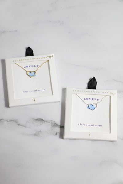 I Have A Crush On You Heart Necklace in Multiple Colors