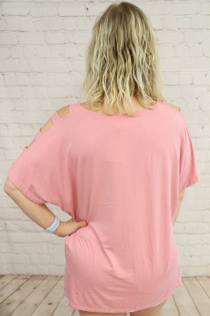 Full of Surprises Dolman with Lattice Sleeve in Multiple Colors - Sizes 4-20