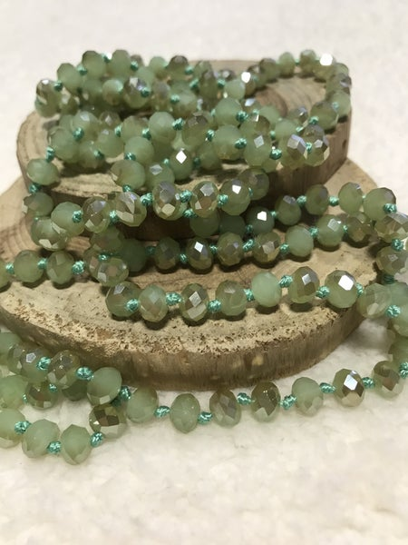 Mint Chocolate Point of Perfection Beaded Necklace