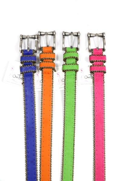 No Time Like The Present Skinny Belt In Multiple Colors