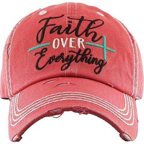Faith Over Everything Ballcap in Multiple Colors