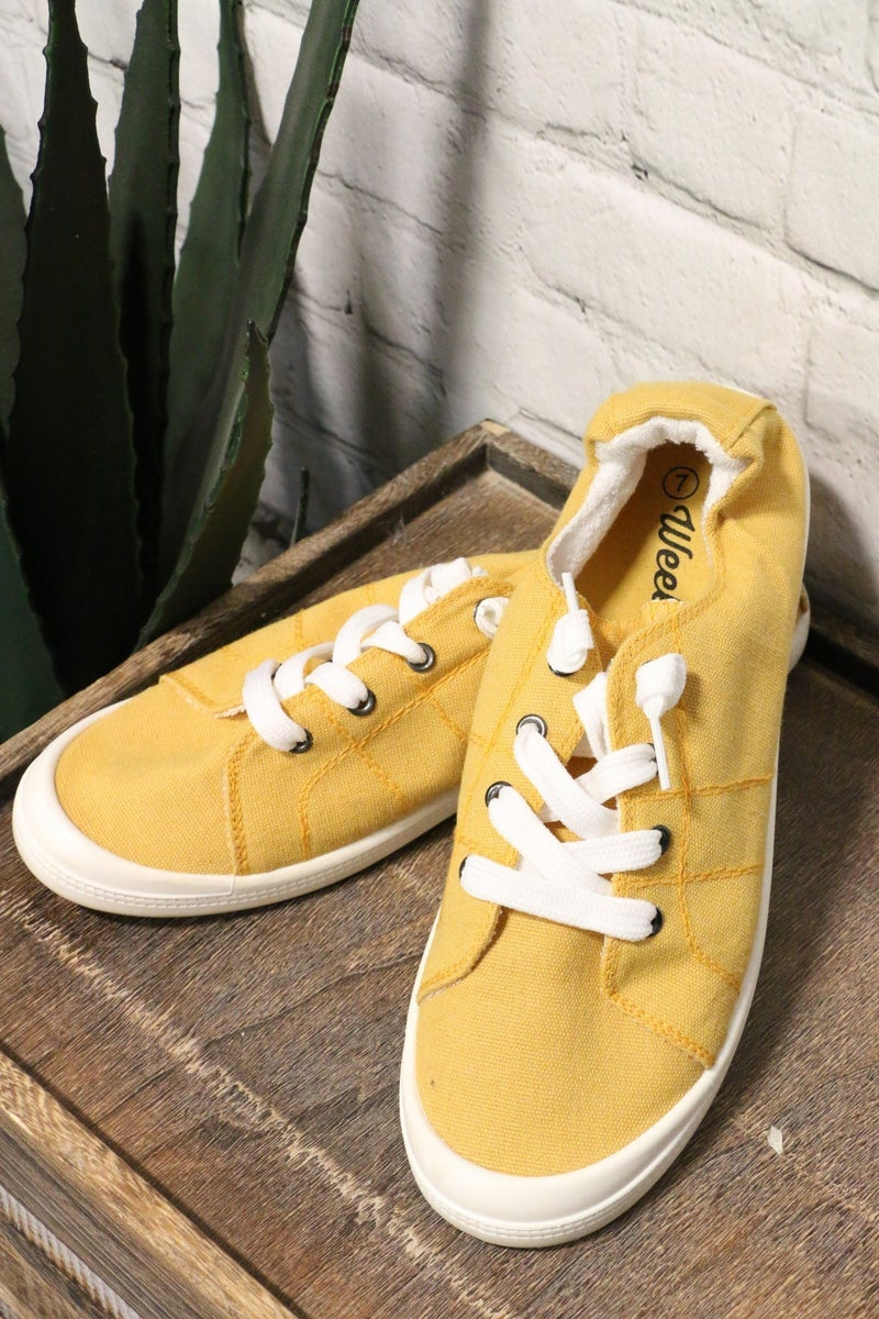If You Ever Want To Go Canvas Sneakers With Memory Foam Sole - Multiple Colors - Sizes 5-9