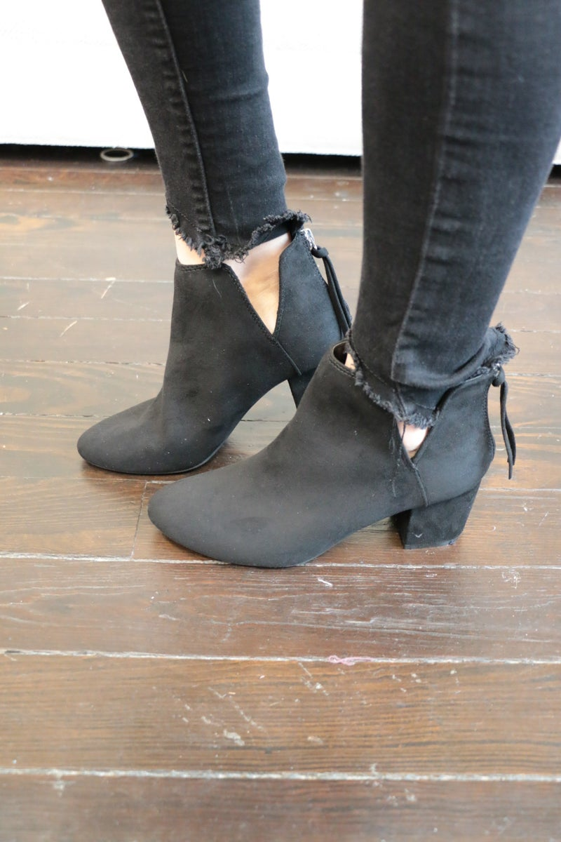 Lifted Up Suede Bootie ~ Sizes 5.5-10