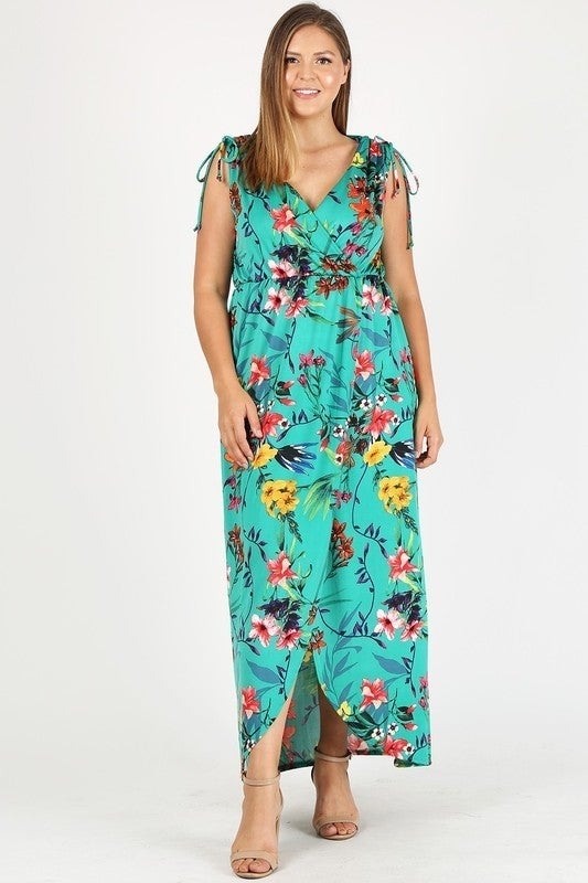 Take Me There Floral Sleeveless Maxi Dress in Multiple Colors - Sizes 12-20