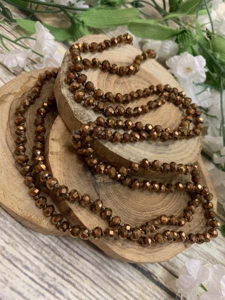 Bronze Point Of Perfection Beaded Necklace