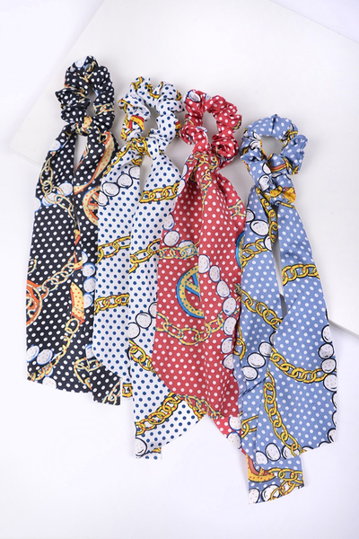 Better Together Chain Print Scrunchie in Multiple Colors