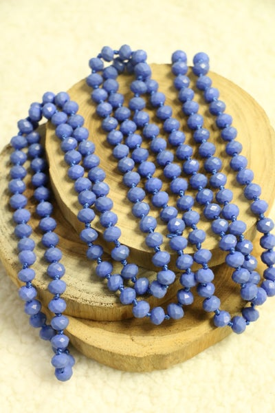 French Blue Point Of Perfection Beaded Necklace