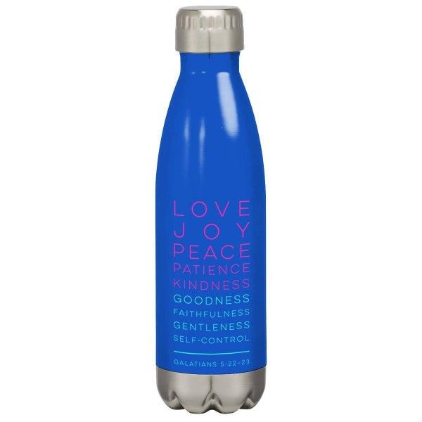 Fruit of the Spirit Blue Stainless Steel Water Bottle