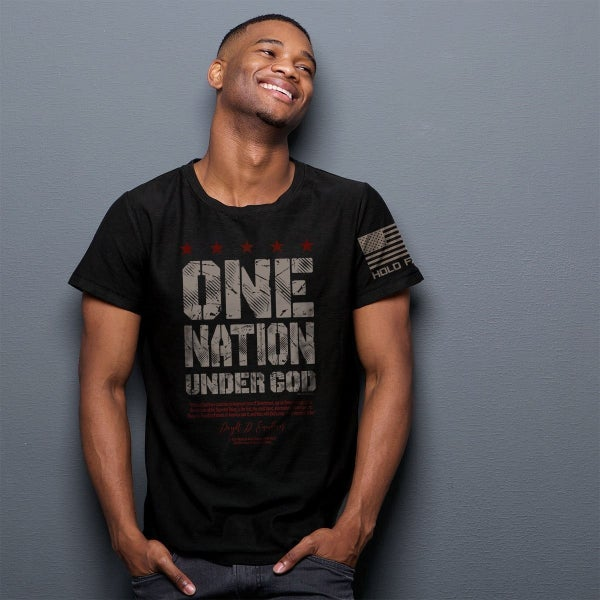 One Nation Under God Men's Graphic Tee in Black - Sizes S-2X