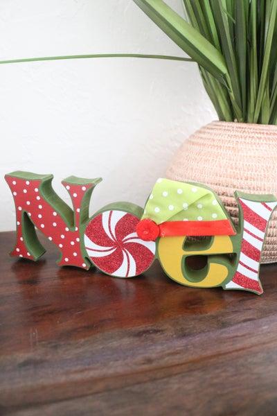 """""""Noel"""" Wooden Table Top Sign"""