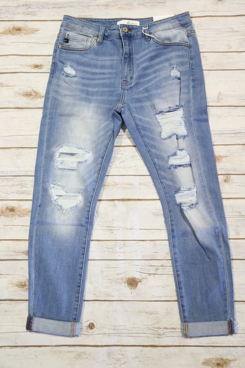 The Edyn Distrressed Kan Can Skinny Jeans - Sizes 5-15