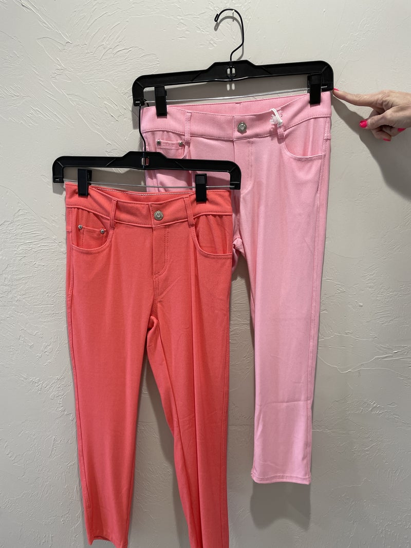 Stretchy Capri Jeggings in Multiple Colors - Size Small