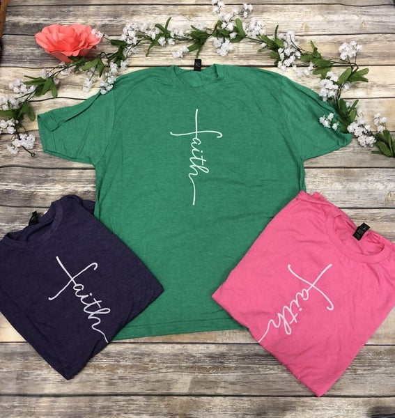 I Have Faith Graphic Tee in Multiple Colors - Sizes 4-20***PRE-ORDER***