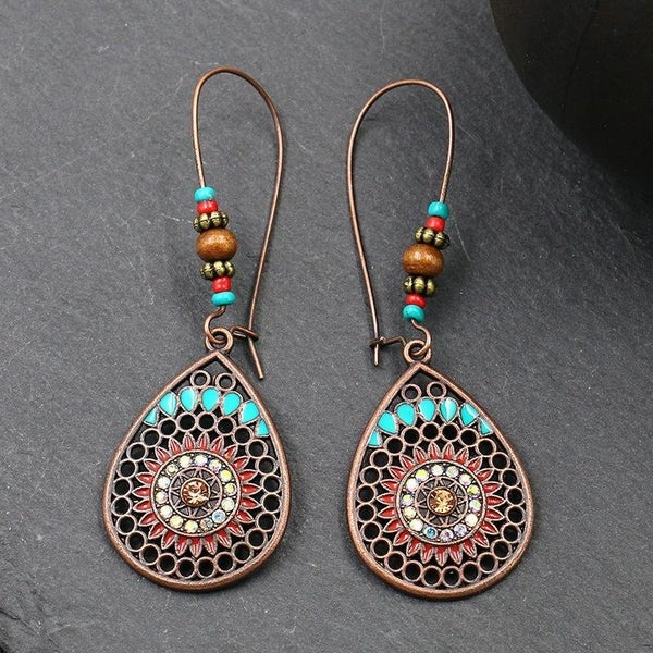 Just Wait Colorful Boho Water Drop Earrings In Multiple Colors