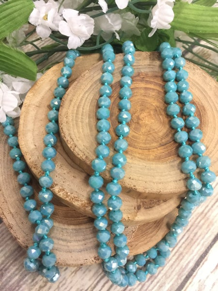 Aqua Point Of Perfection Beaded Necklace