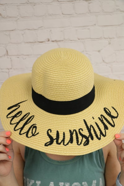 Hello Sunshine Sun Hats in Multiple Colors