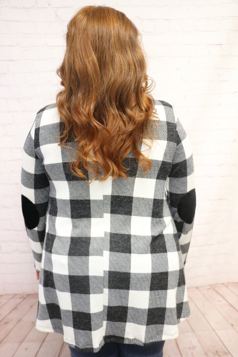 Maybe One Day Black and White Buffalo Check Tunic - Sizes 4-20