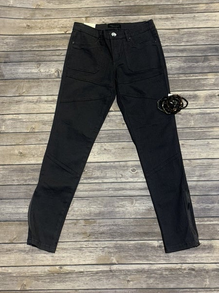 The Kimberley Skinny Jean With Zipper Ankle in Charcoal - Sizes 1-15