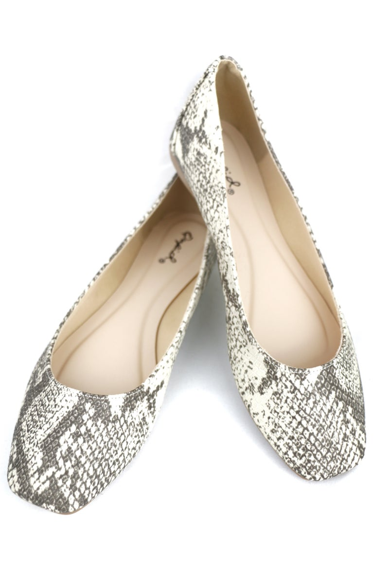 Take It Easy Snake Skin Flats Sizes 5.5-10