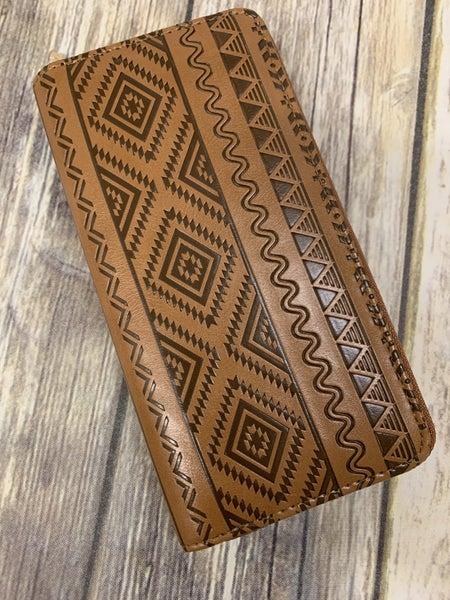 Leather Aztec Print Wallet