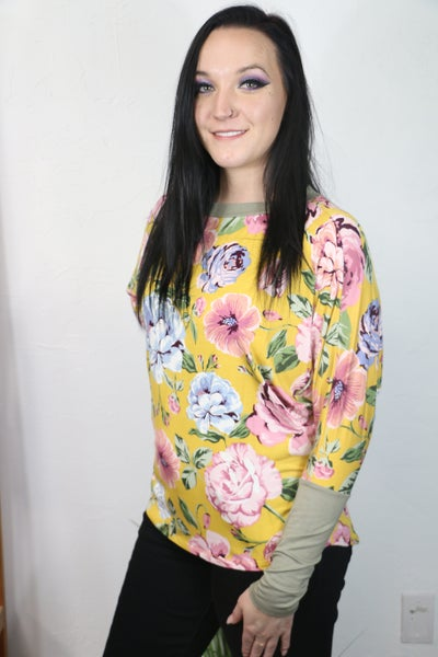 Always Dreaming of You Oversized Floral Dolman in Multiple Colors - Sizes 4-10