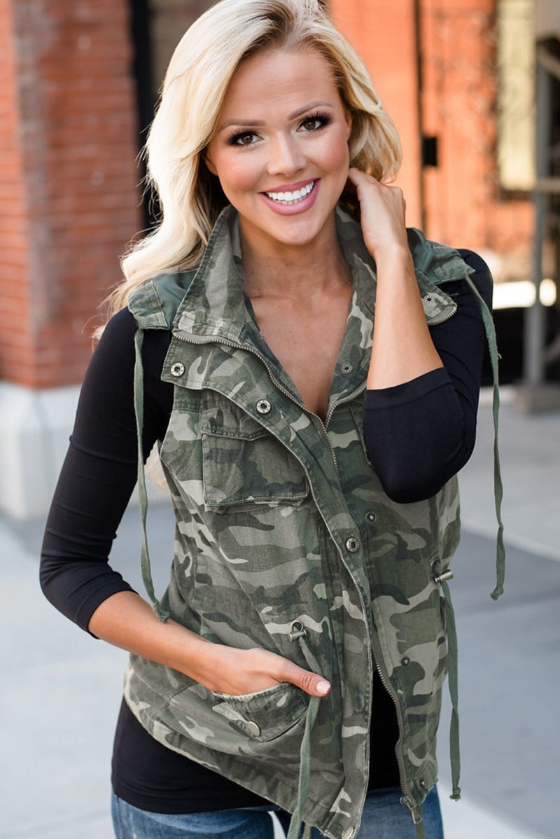 Keep Hunting Camouflage Vest with Removable Hood - Sizes 4-20