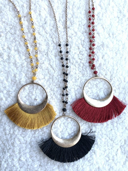 Remember This Circle Tassel Necklace in Multiple Colors