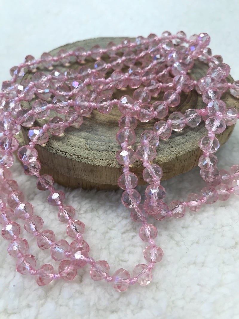 Baby Pink Point Of Perfection Beaded Necklace