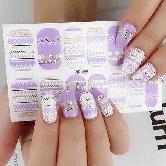 Nail Polish Stickers in Pattern Prints *Final Sale*