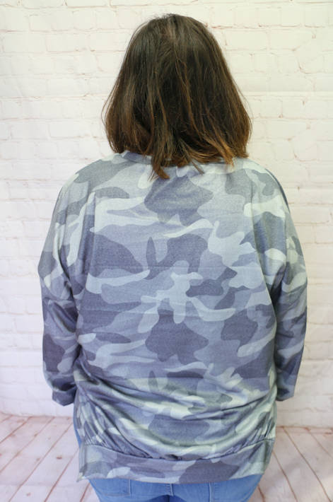 Searching for You Olive Camo Long Sleeve Top - Sizes 4-20