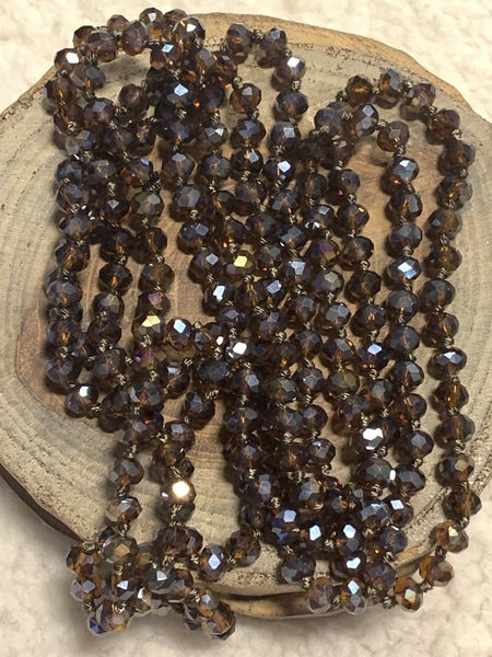 Amber Petite Point Of Perfection Beaded Necklace