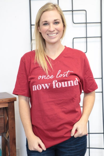 ***PRE-ORDER*** Once Lost, Now Found Graphic Tee In Red- Sizes 4-12