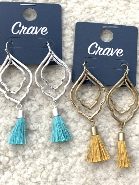 All For You Double Morrocan Tassel Earring In Multiple Colors