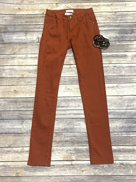 Go To Basic Colored Skinny Jeans ~ Rust ~ Sizes 1-13