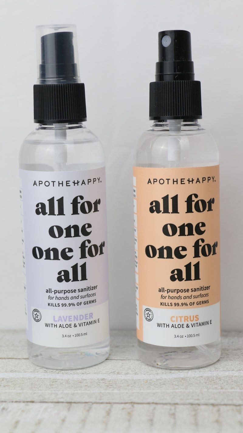 All For One, One For All Hand Sanitizer Spray in Multiple Scents