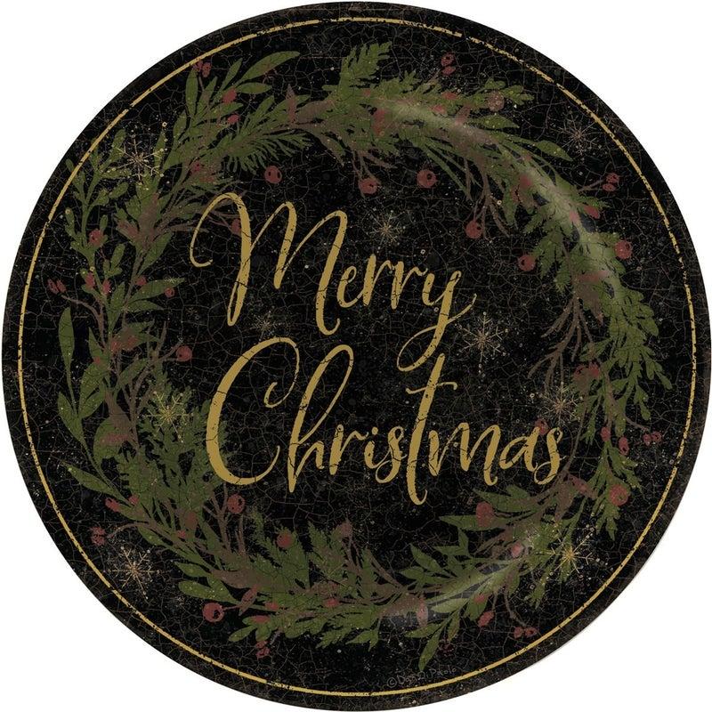 Merry Christmas Decorative Plate