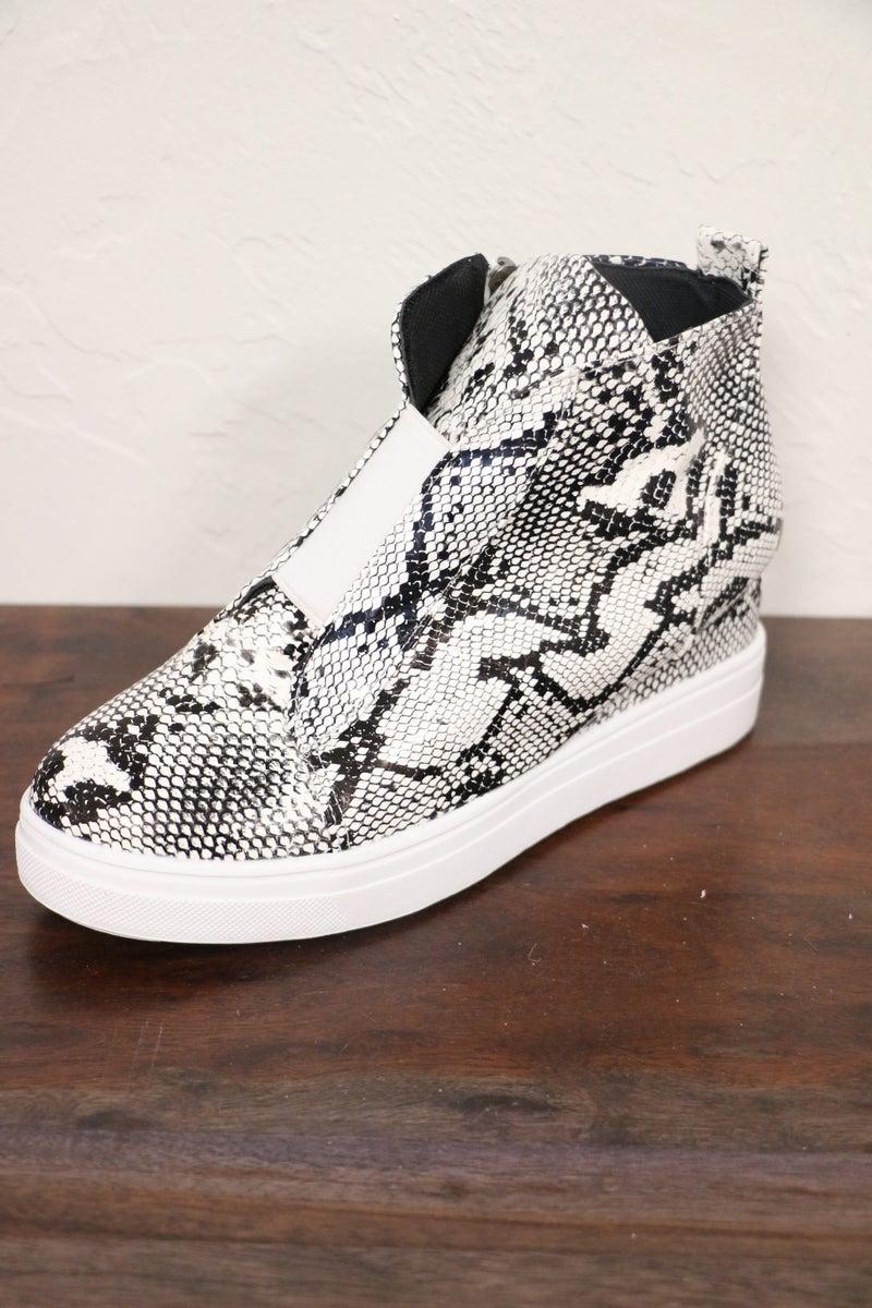 Always Beautiful Faux Snake Skin Wedge Shoe -  Sizes 7-11