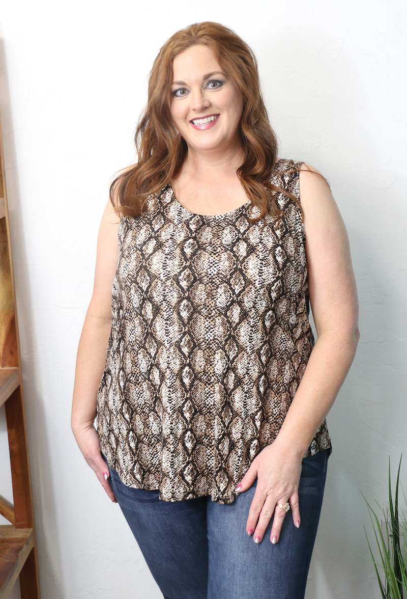Slithering Your Way Snakeskin Tank Top in Multiple Colors - Sizes 4-20