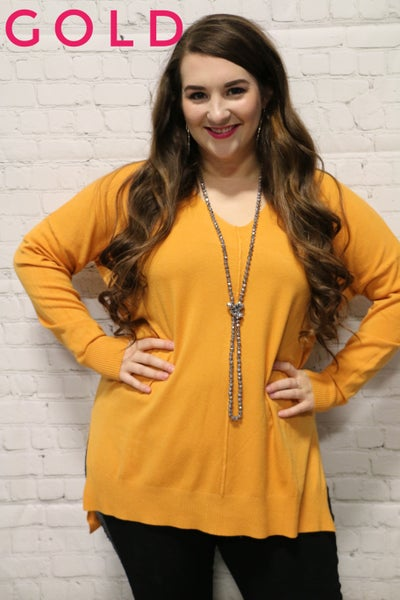 Can't Handle It V-Neck Sweater Tunic in Multiple Colors Sizes 4-20